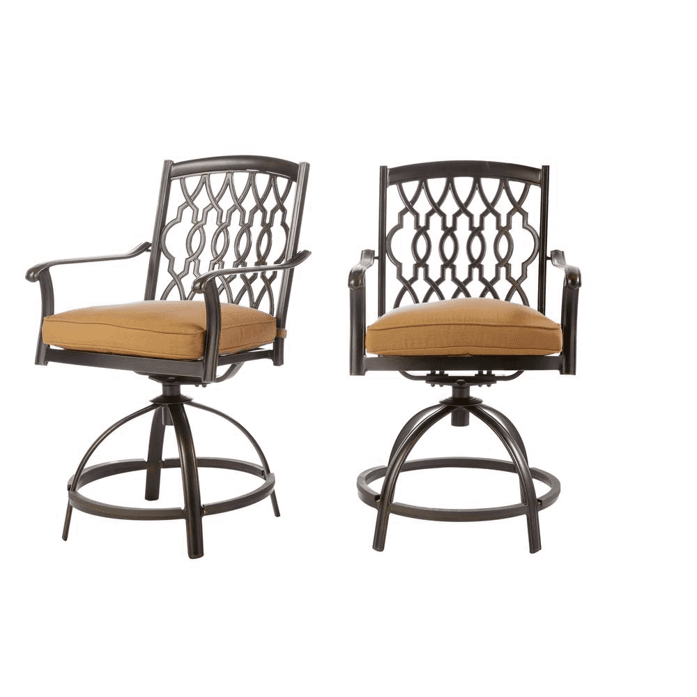Miraculous Ridge Falls Aluminum Outdoor Bar Stool With Sunbrella Cork Cushion 2 Pack Model S2 Aax02713K01 Squirreltailoven Fun Painted Chair Ideas Images Squirreltailovenorg