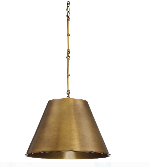 Savoy House  Alden 1-Light Pendant in Warm Brass (Model:  7-131-1-322)