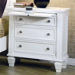 Coaster Sandy Beach White Nightstand (Model:  201302)