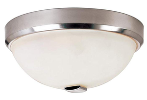 Transglobe Lighting LED-10111 BN Flush Mount with Frosted Glass Shades