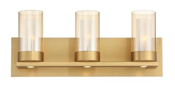 Home Decorators HDC Samantha 3-Light Brass LED Bathroom Vanity Fixture (Model 34840-HBB)
