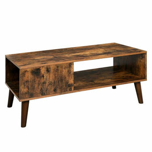 VASAGLE Retro Coffee Table Mid Century Modern Accent Table