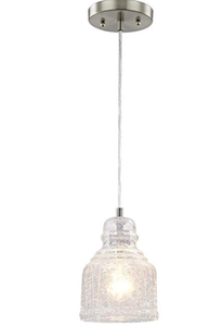 Westinghouse Lighting One-Light Pendant with Clear Crackle Glass (Model:  6309200)