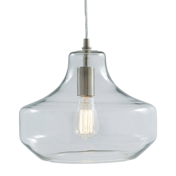 allen + roth Single Modern/Contemporary Clear Glass Urn Pendant Light