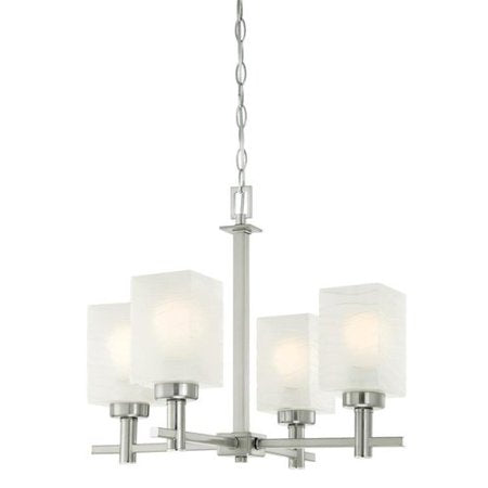 Ebern Designs Vernell 4-Light Shaded Chandelier (Model:  WL4524)
