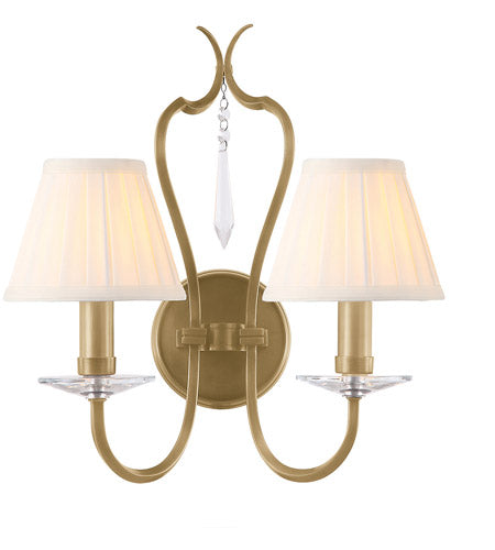 Lucas and McKearn EL/PM2 AB Pimlico 2 Light 14 inch Aged Brass Wall Sconce Wall Light