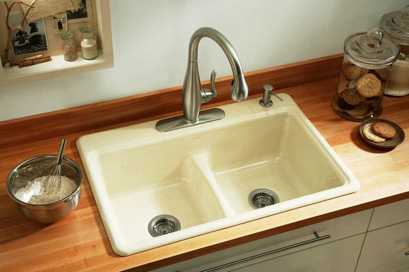 Brighton Thermocast  3-Hole Kitchen Sink
