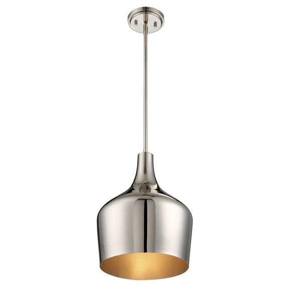 Lite Trend 1-Light Geometric Pendant Polished Nickel (Model: M70020PN)