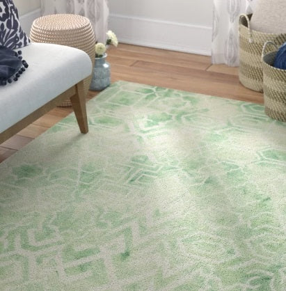 Mistana Landry Tufted Cotton Green Area Rug