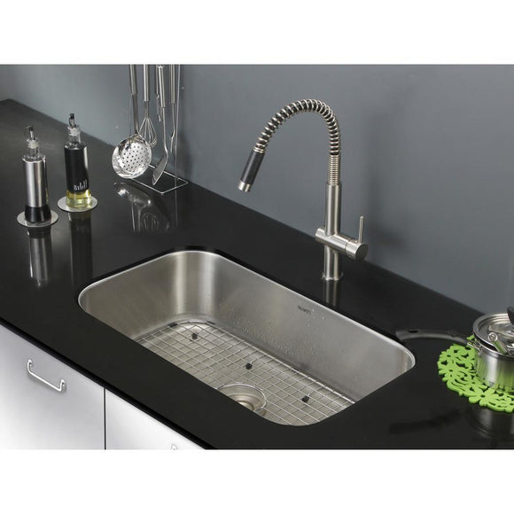 Ruvati Parmi Single Bowl Kitchen Stainless Steel Sink 30