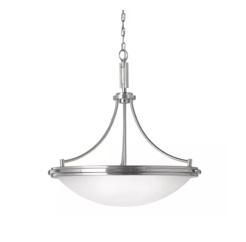 Sea Gull Lighting Winnetka 4-Light Brushed Nickel Uplight Pendant (Model # 65662-962)