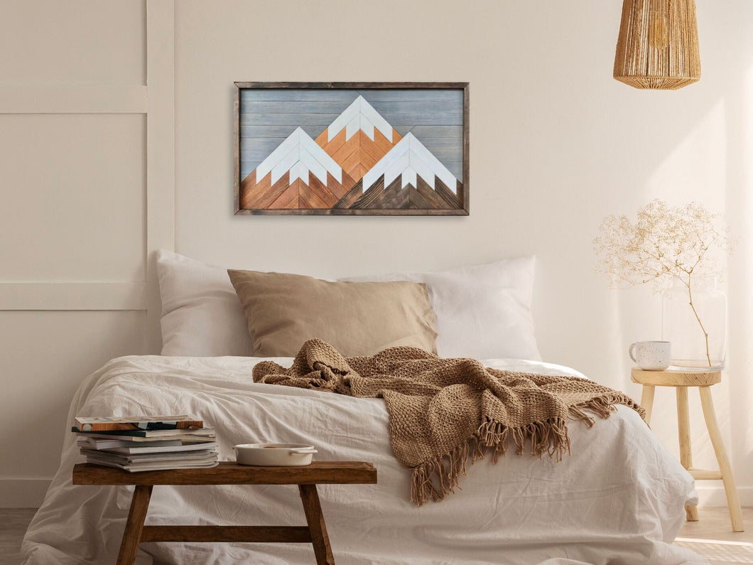 Mountain Wood Wall Art - 18