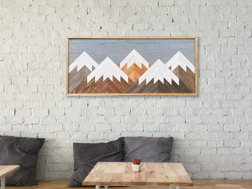 Mountain Wood Wall Art - 20
