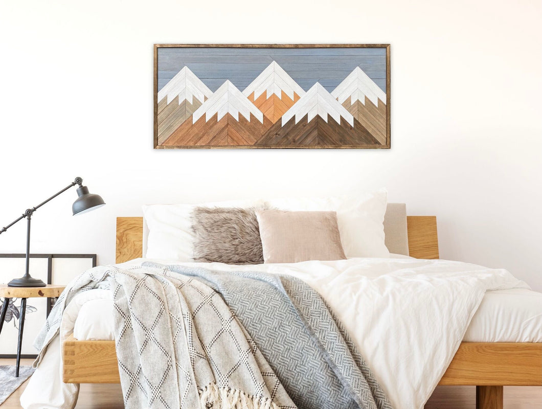 Mountain Wood Wall Art - 22