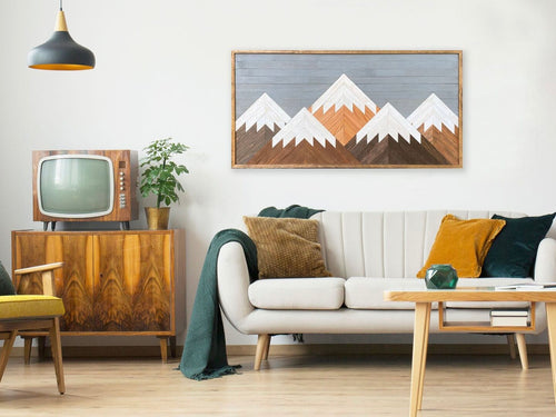Mountain Wood Wall Art - 26