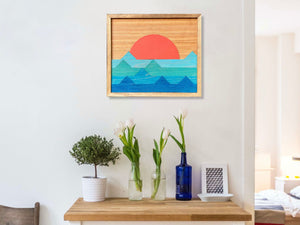 "Ocean Wood Wall Art - 16""x18"""