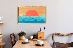 "Ocean Wood Wall Art - 16""x26"""