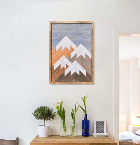 Vertical Mountain Wood Wall Art - 26