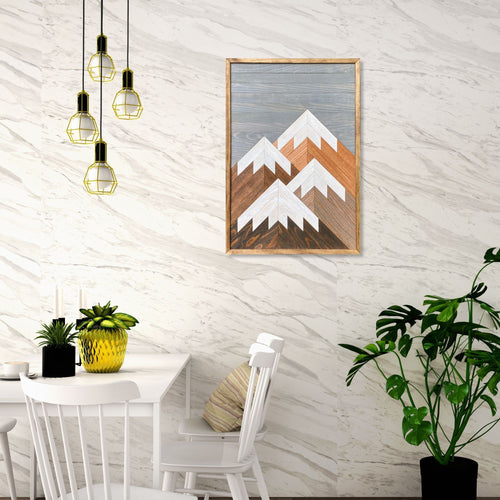 Vertical Mountain Wood Wall Art - 32