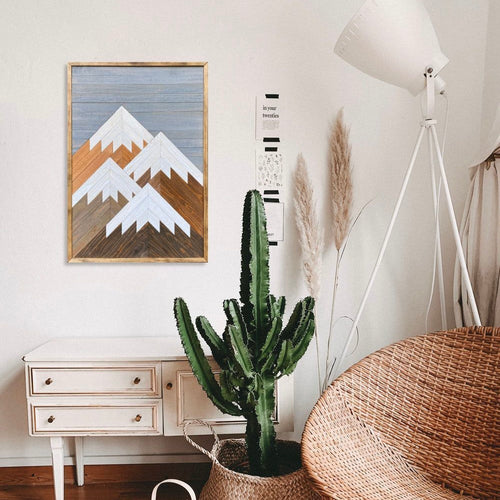 Vertical Mountain Wood Wall Art - 36