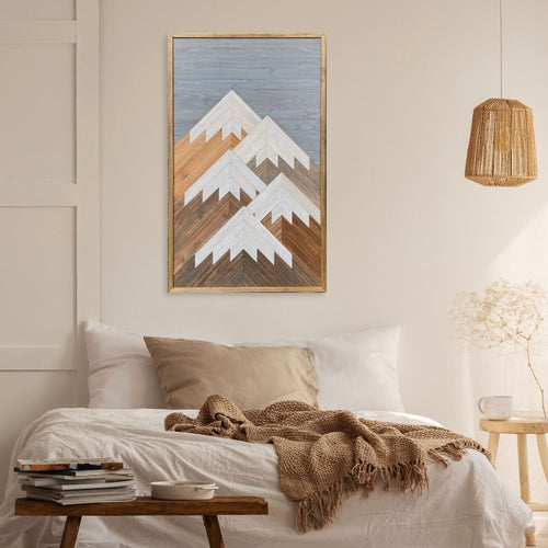 Vertical Mountain Wood Wall Art - 42