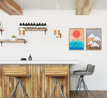 "Mountain and Ocean Wood Wall Art Set - two of 26""x18"""