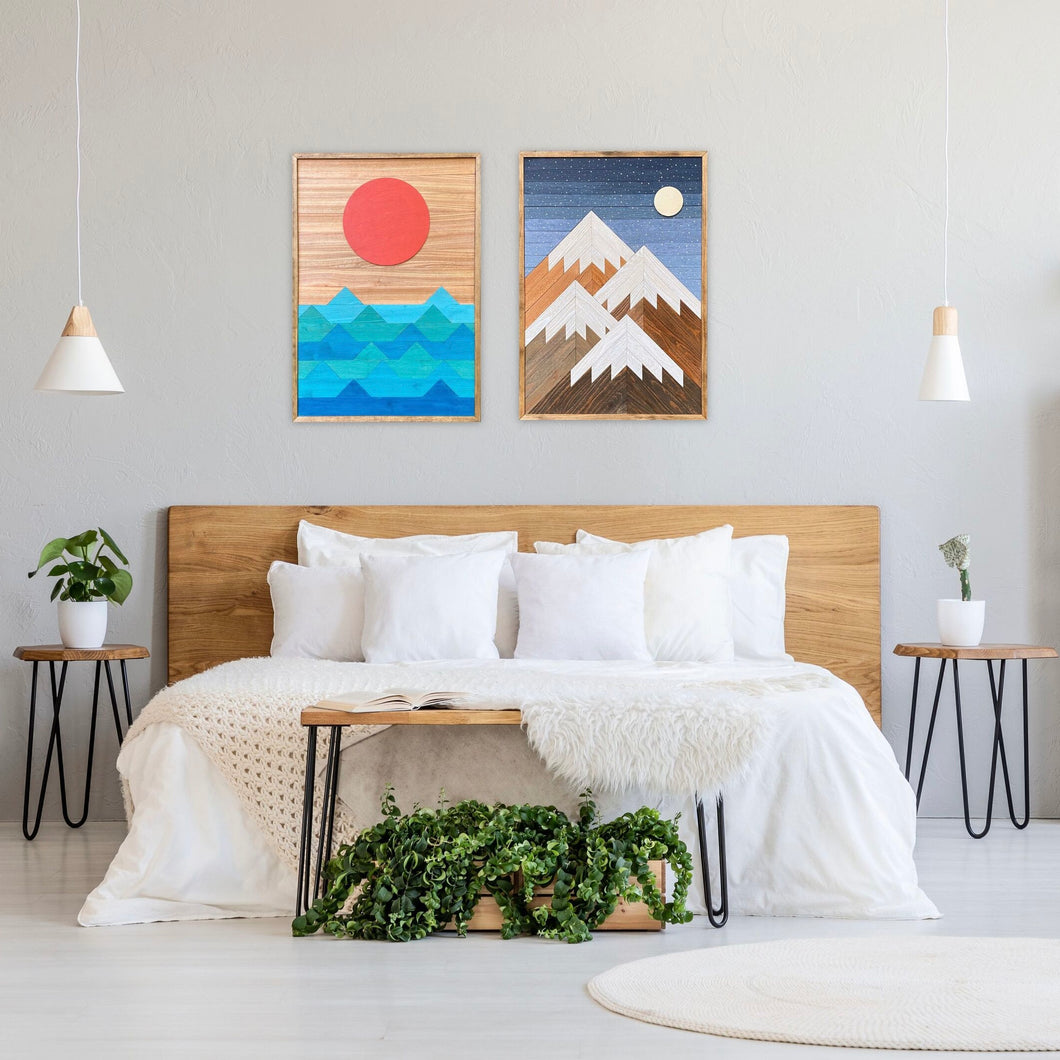Beach Days and Mountain Nights Wood Wall Art Set - two of 36