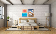"Beach Days and Mountain Nights Wood Wall Art Set - two of 36""x26"""
