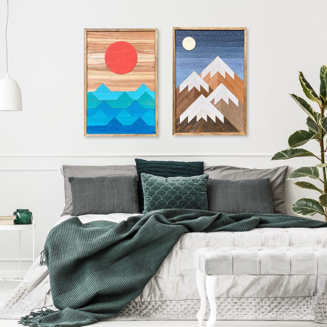 Beach Days and Mountain Nights Wood Wall Art Set - two of 32