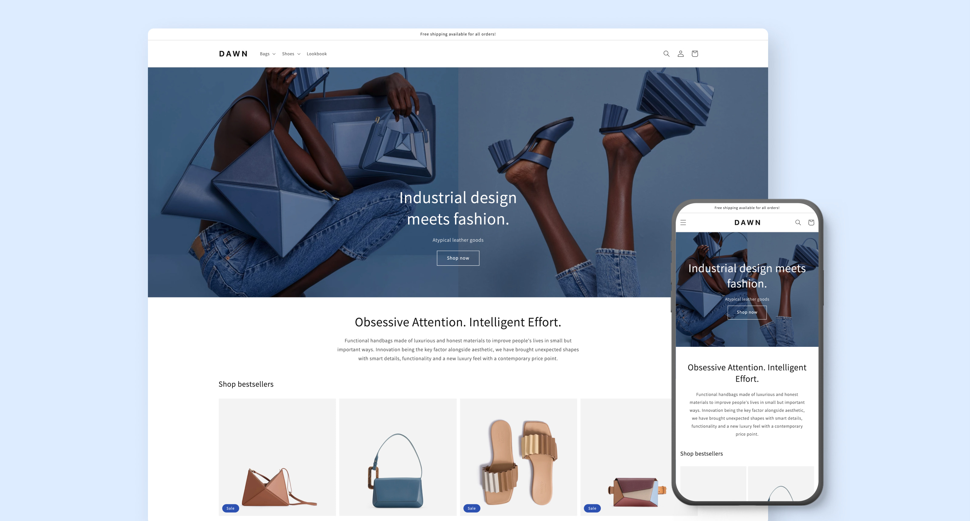 Unpack the features of Dawn, Shopify's flexible, mobile-first theme