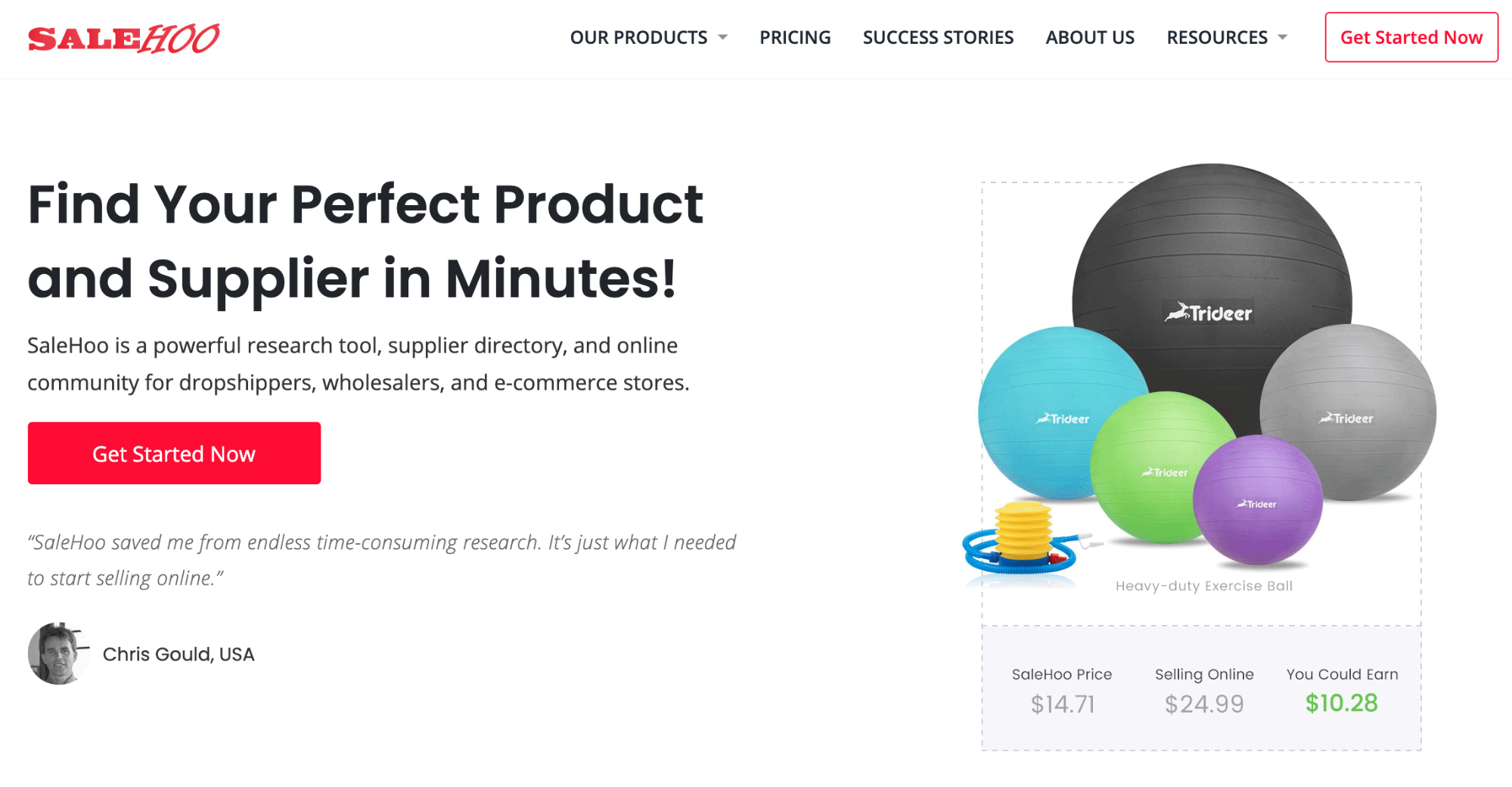 Salehoo homepage, where sellers can source products to dropship