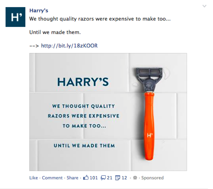 facebook ads metrics harrys