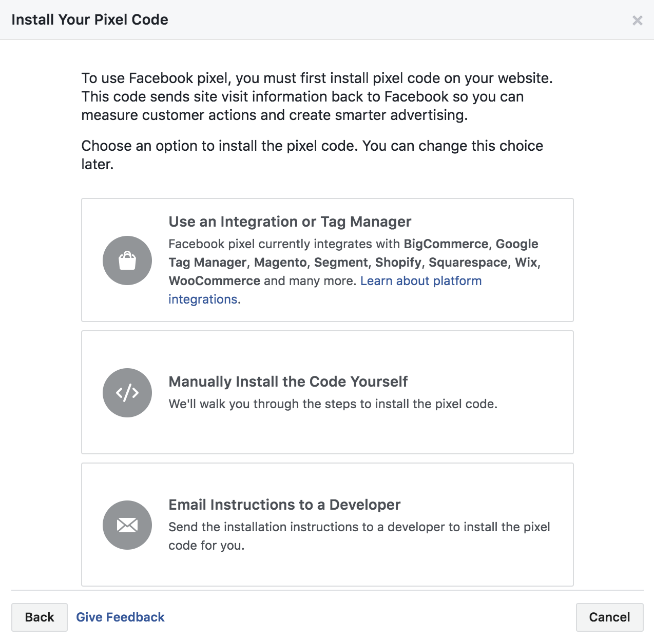 Can change email on facebook page template