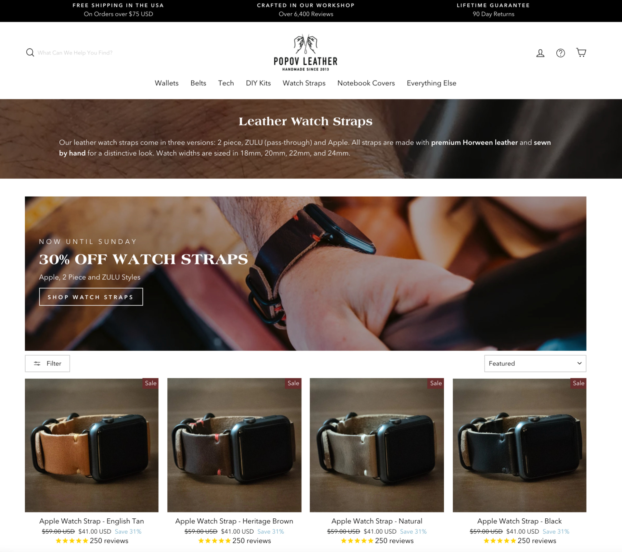 Popov Leather swapped its Etsy store for Shopify to sell its custom products.