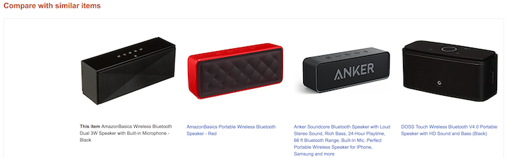 Similar products.