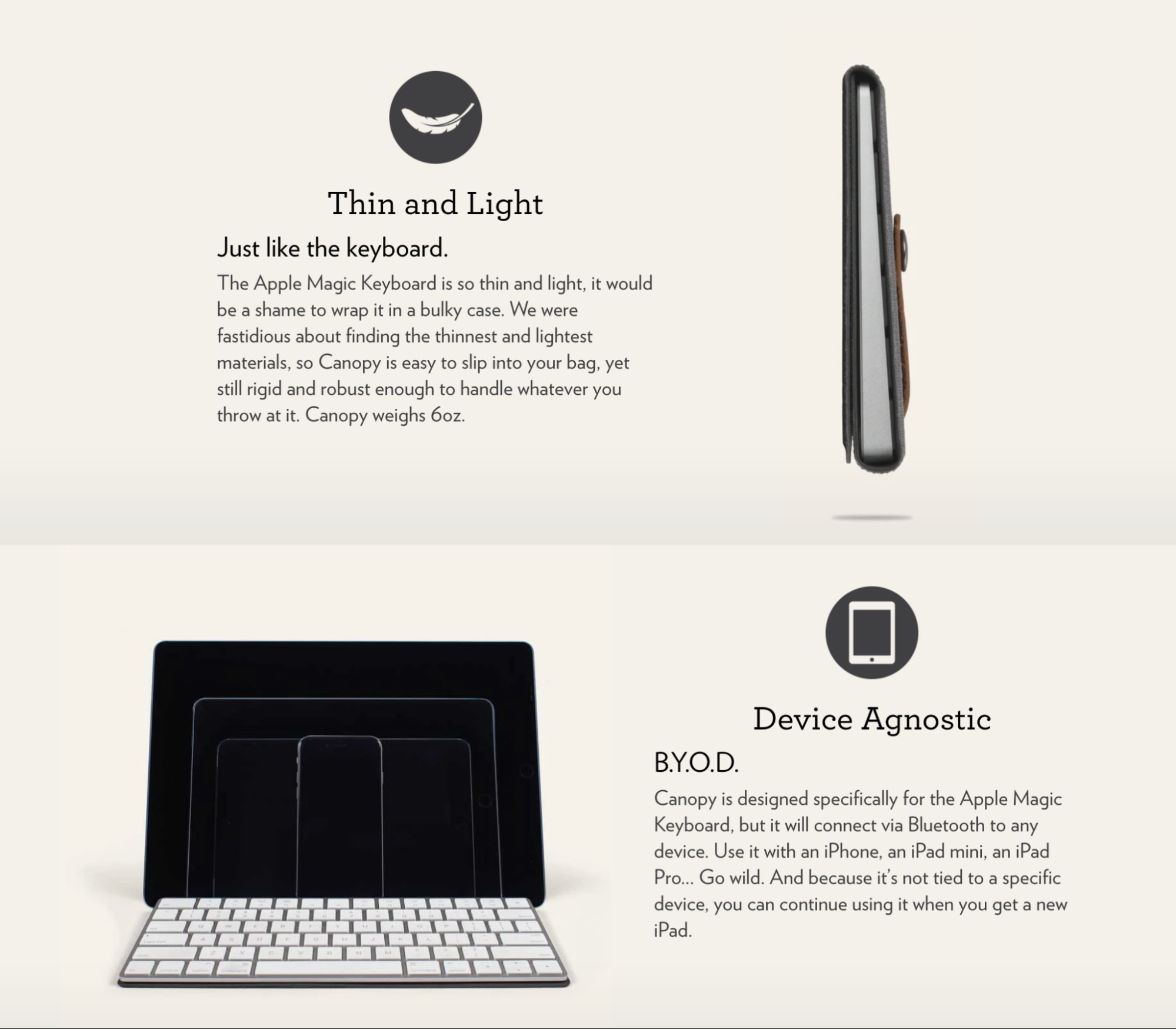 Studio Neat's product page is an excellent blend of benefits-driven copywriting along with feature-rich descriptions.