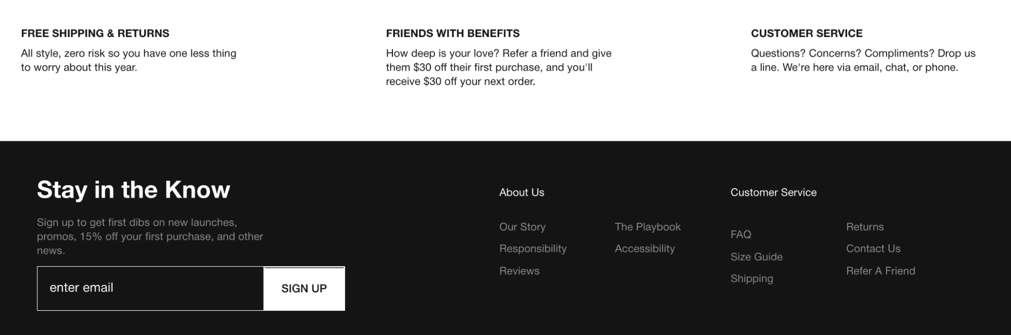 GREATS' product pages use copy that matches their brand's voice and tone.