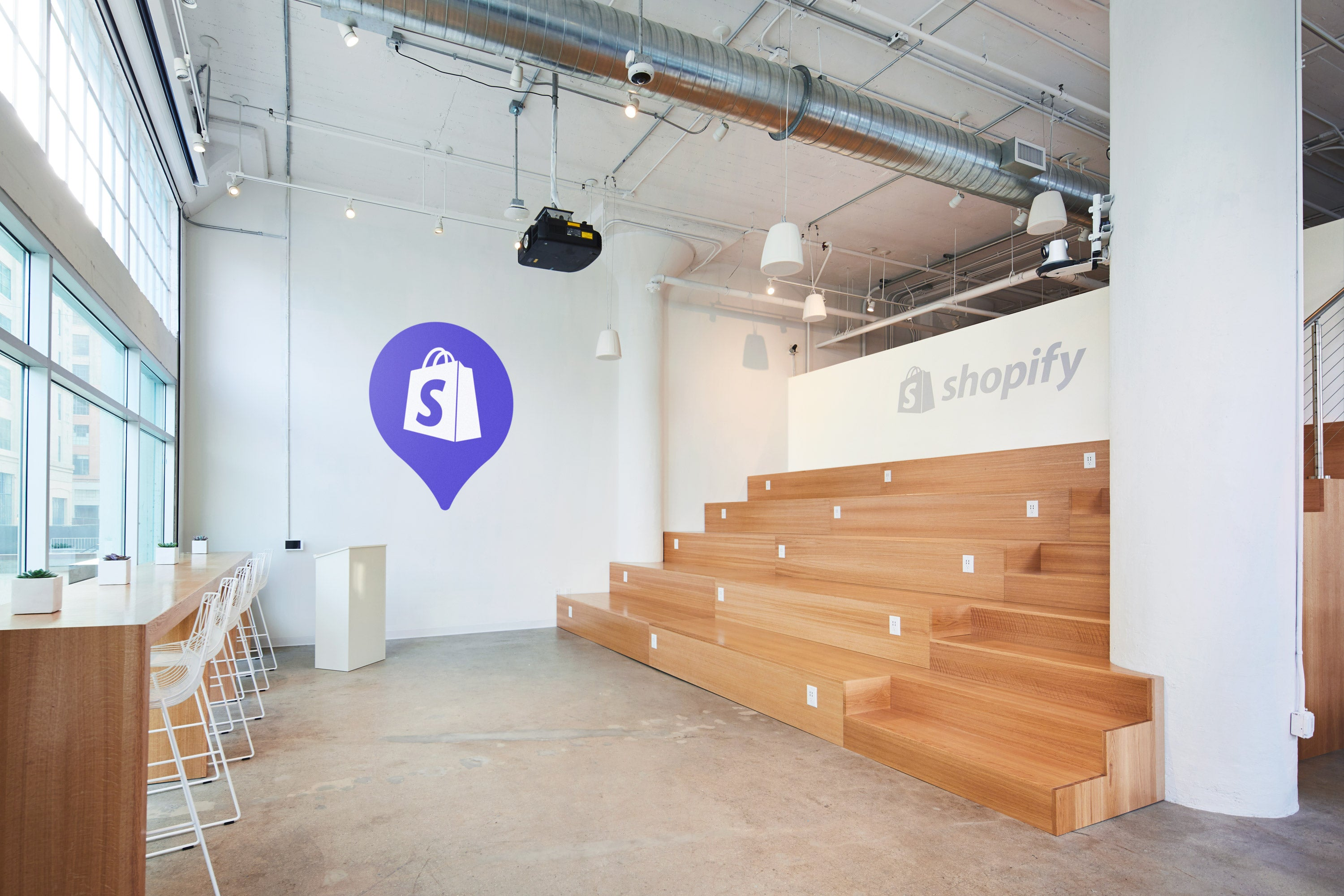 Shopify in LA custom amphitheater