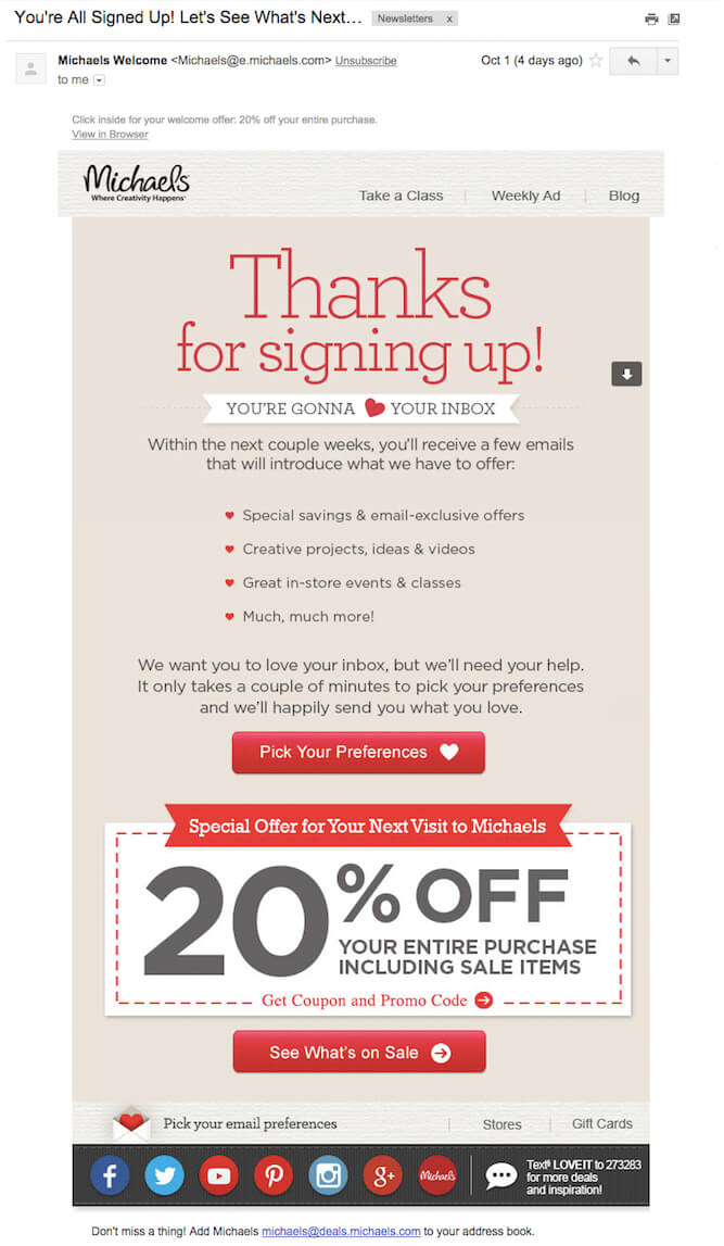 7 automated email campaigns that win customers and keep them coming ba thanks for signing up confirmation fandeluxe Images