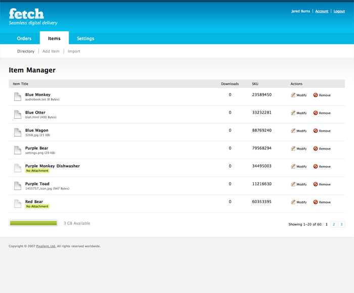 Fetch- Digital downloads for Shopify