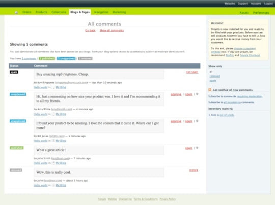 New Feature: Comments for Blogs