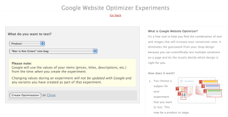 Increase your conversion rates with Google Website Optimizer