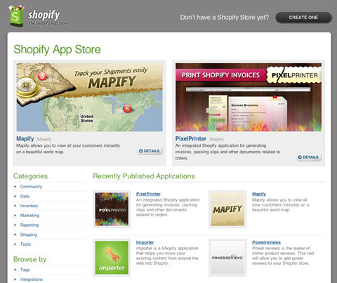 Shopify App Store and API Officially Launched!