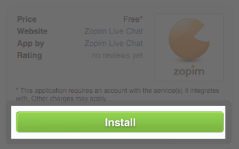 Step 2: Installing the app After choosing a live chat app, click on the install button and follow the simple step-by-step instructions.