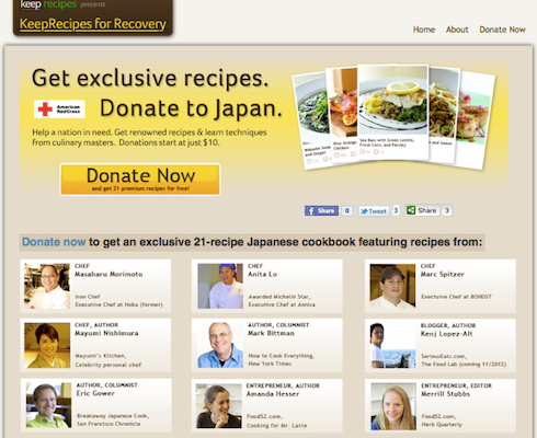 Culinary Masters Cooking Up Recipes For Japan