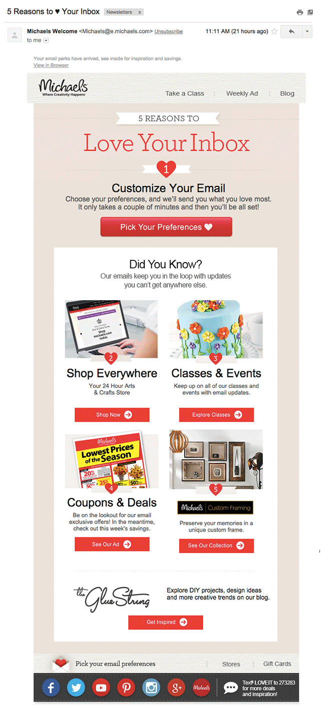 7 automated email campaigns that win customers and keep them coming ba michaels nurture email fandeluxe Image collections