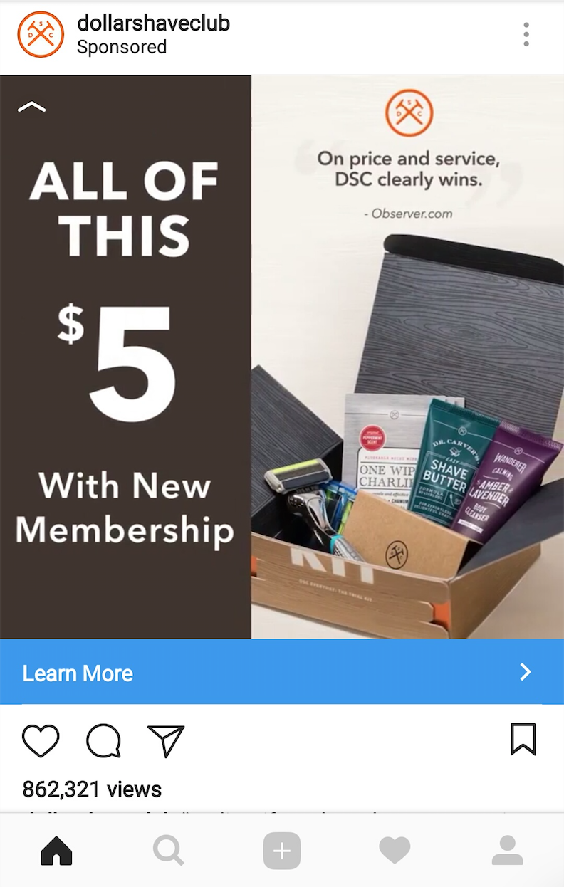 Video ads on Instagram