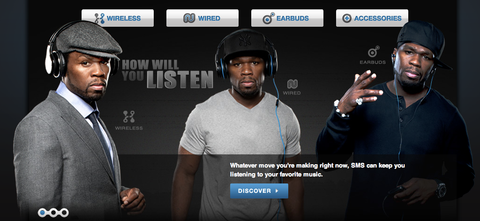 50 Cent's SMS Audio Launches Shopify Store to Sell Headphones