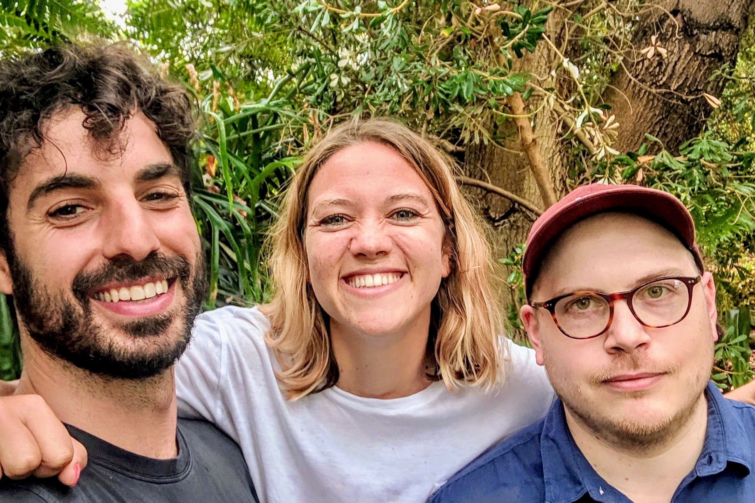 Zero Waste Cartel founders, David Fragomeni (left), Harriet Simonis (center), and Scott Ferguson (right).