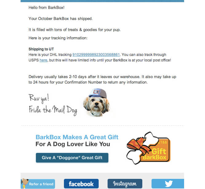 7 automated email campaigns that win customers and keep them coming ba barkbox welcome fandeluxe Image collections